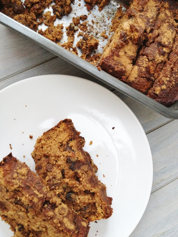 cow crumbs, gluten free, pumpkin bread, dairy free, paleo, healthy snack, breakfast, gluten free snack, coconut flour