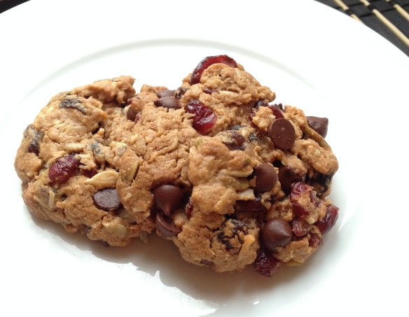 cow crumbs, almond butter, cookies, dairy free, paleo, refined sugar free, gluten free, pumpkin seeds, sunflower seeds, coconut, healthy sweets, raisins, cranberries