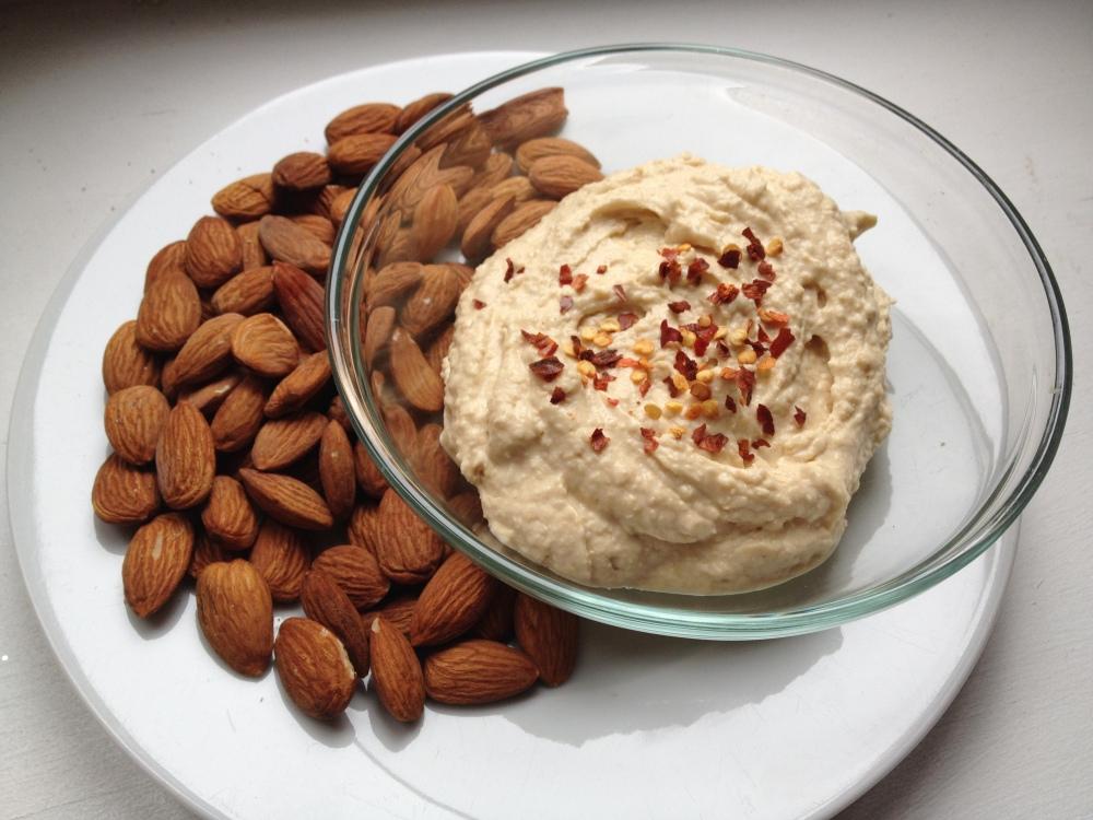 cow crumbs, gluten free, dairy free, paleo, hummus, almond butter, chickpeas