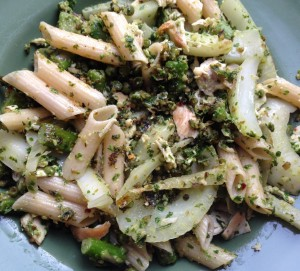 cow crumbs, gluten free, dairy free, parsley pesto, delicious detox, fennel, asparagus
