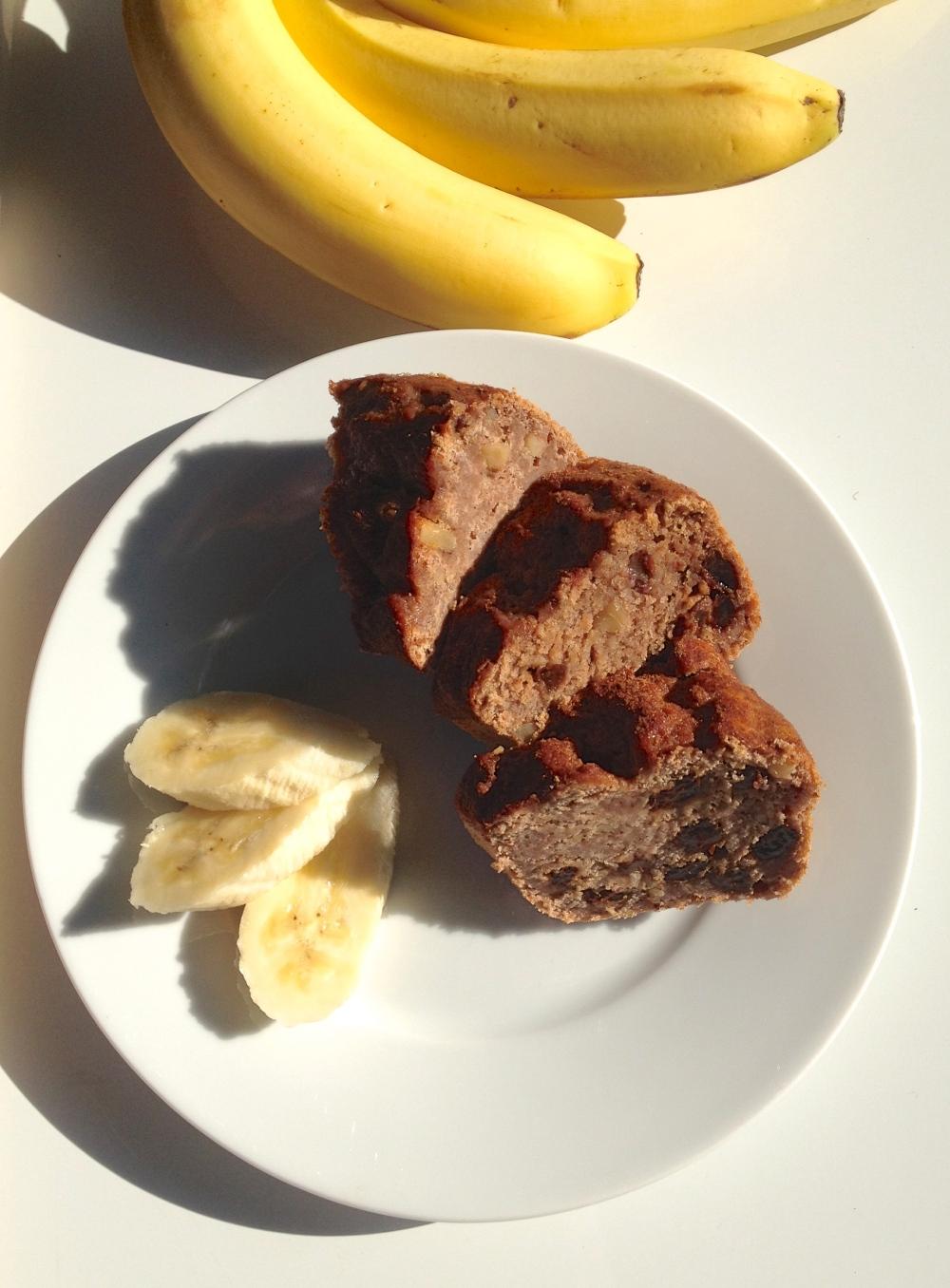 cow crumbs, dairy free, vegan, gluten free, banana bread, banana, gluten free bread,