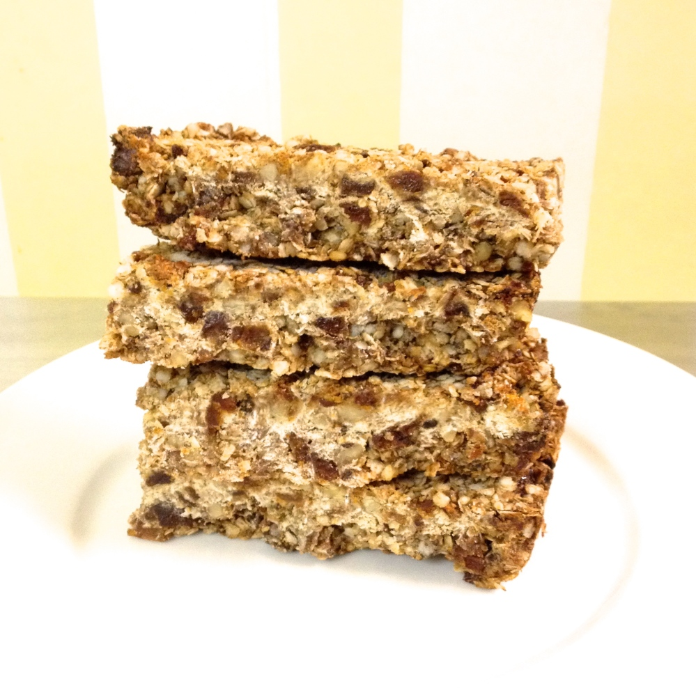 cow crumbs, gluten free, dairy free, apricots, walnuts, granola bars, quinoa flakes, healthy snacks, breakfast bar