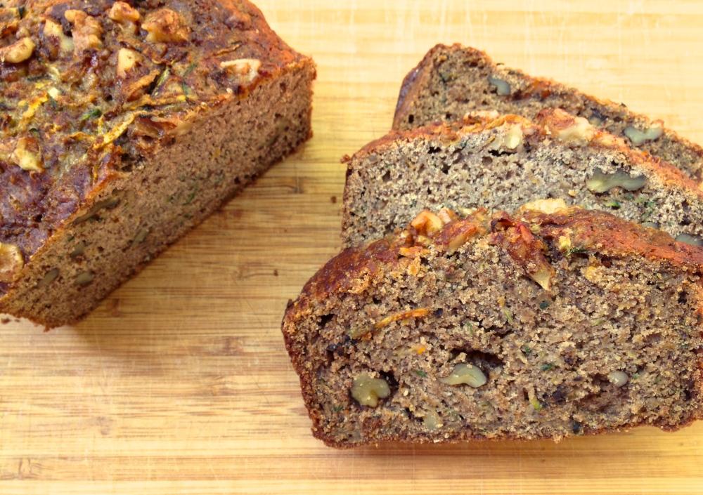 cow crumbs, gluten free, dairy free, zucchini bread, sweet bread, zucchini, dessert, breakfast bread