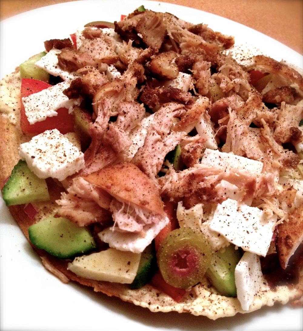 cow crumbs, gluten free, dairy free, tacos, mediterranean taco, easy dinner, healthy dinner option, enjoy life brown rice tortillas