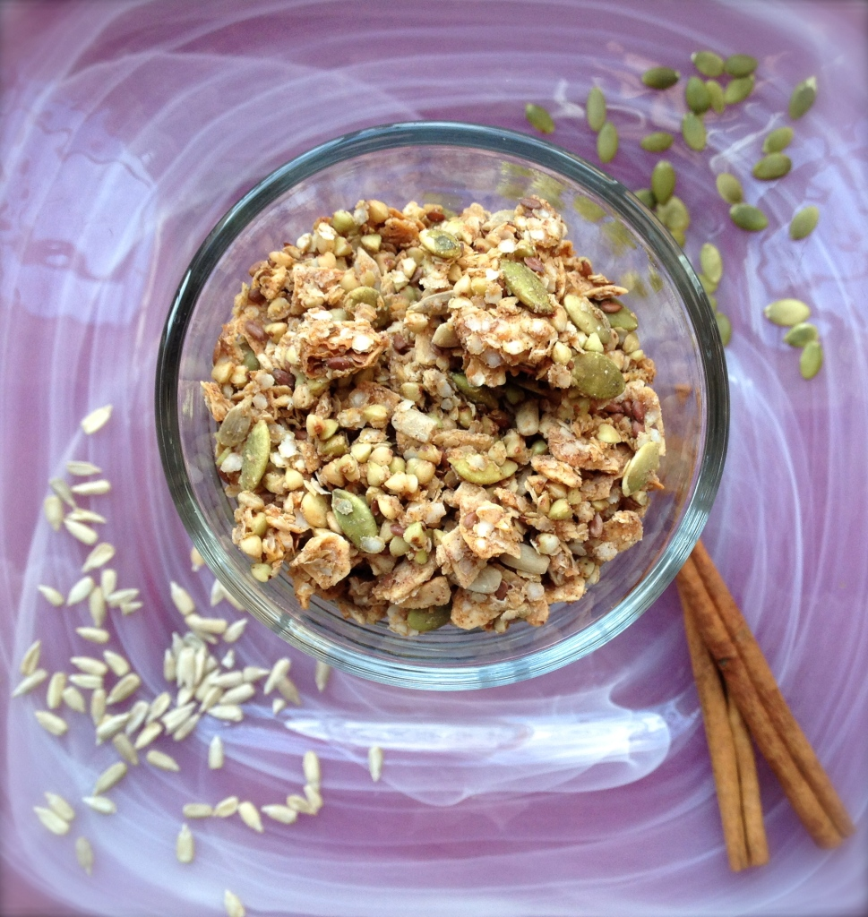 cow crumbs, gluten free, dairy free, granola, breakfast, buckwheat, quinoa flakes, vegan