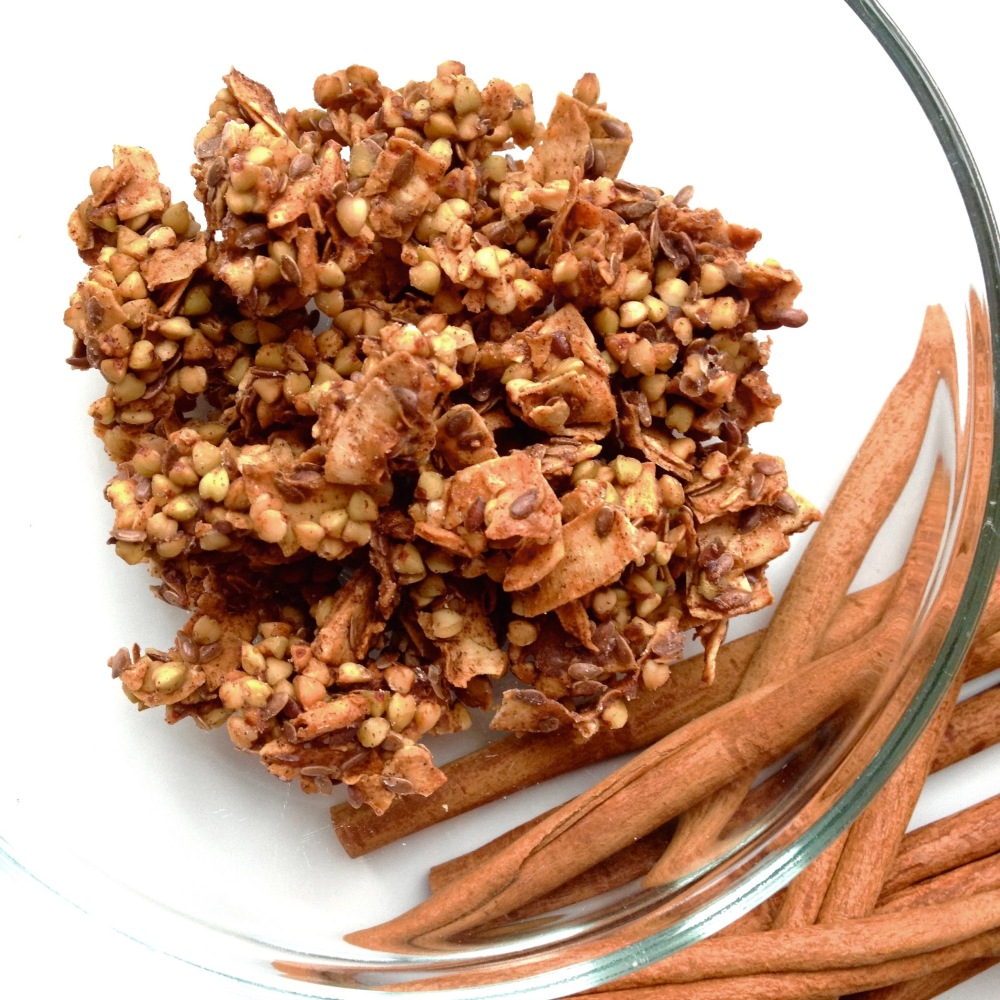 cow crumbs, dairy free, gluten free, paleo, granola, cereal, buckwheat, coconut flakes, breakfast
