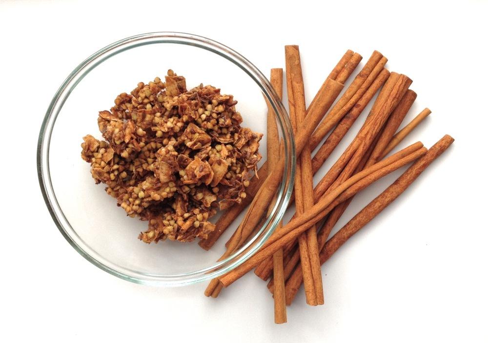 cow crumbs, dairy free, gluten free, paleo, granola, cereal, buckwheat, coconut flakes, breakfast
