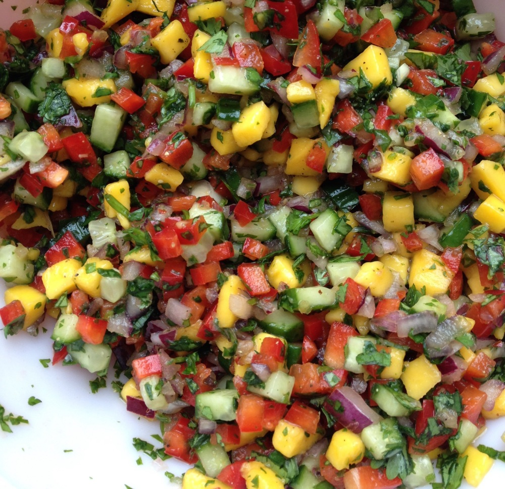 cow crumbs, gluten free, dairy free, salsa, mango salsa, mexican party, tacos, fresh, mexican food