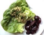 Tasty Tuna, cow crumbs, gluten free, dairy free, lettuce wrap, roasted beets, paleo
