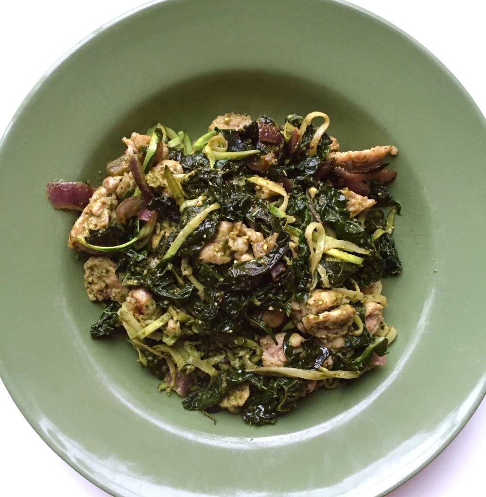 Kale Pesto Zucchini Noodles